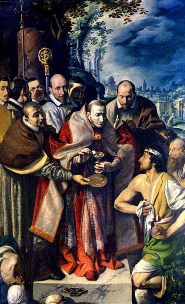 Tanzio da Varallo. San Carlo comunica gli appestati, 1616. Collegiata dei Santi Gervasio e Protasio, Domodossola.